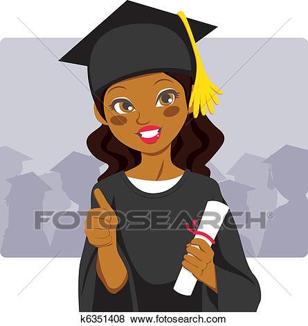 African American Graduate Clip Art.