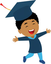 Smiling african american student at graduation clipart » Clipart Station.