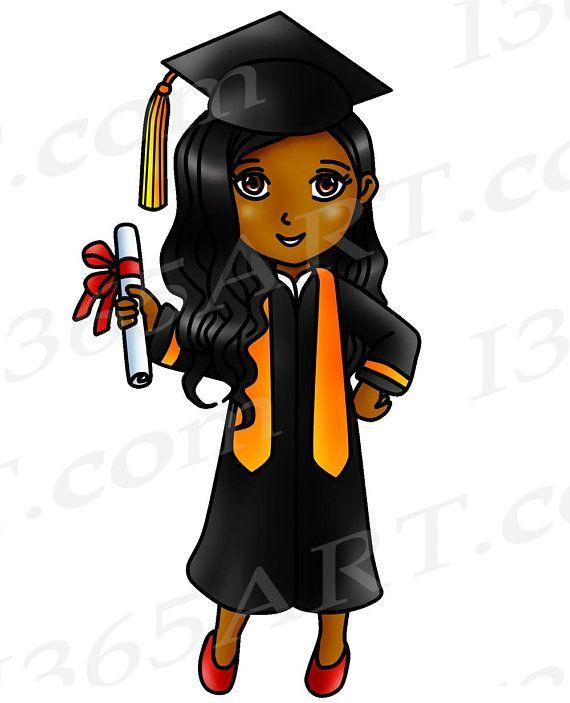50% OFF Graduation Clipart, Graduation Clip Art, Graduation Girls.