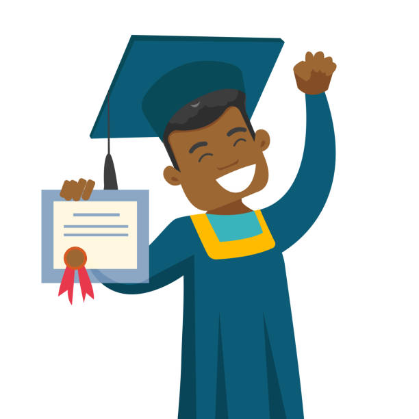 Best African American Graduation Illustrations, Royalty.
