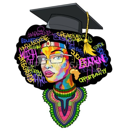 Image result for black female graduation clip art.