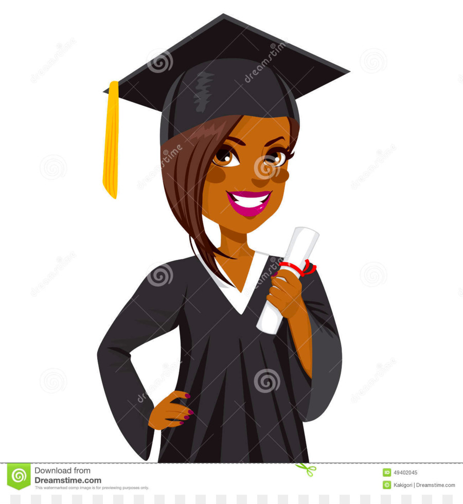 Graduation ceremony African American Graduate University.