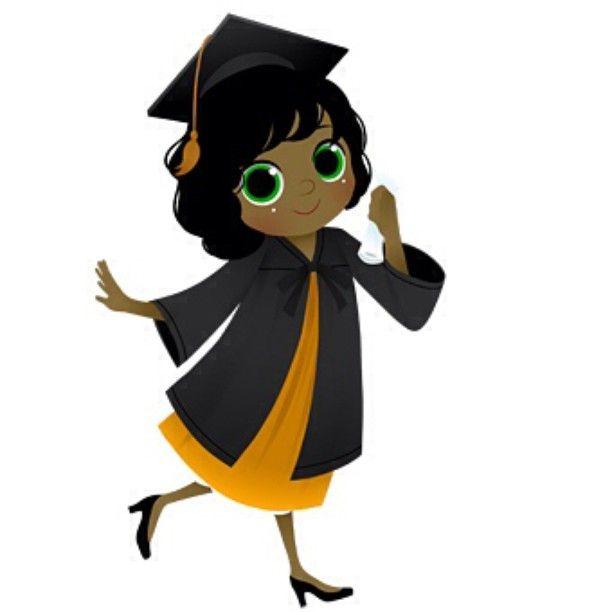 Black Girl Graduation Clipart.