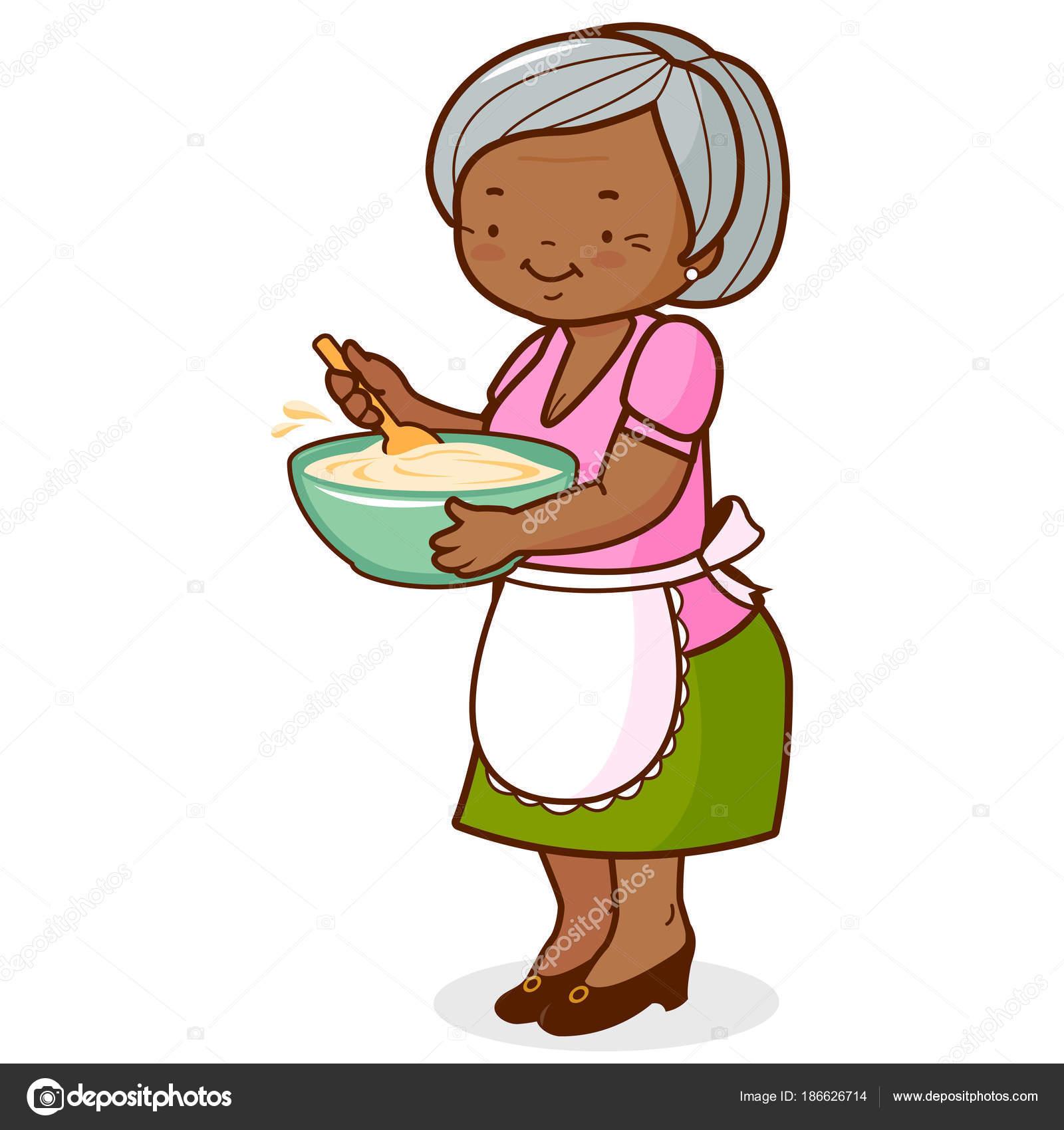 Clipart: african american grandma.