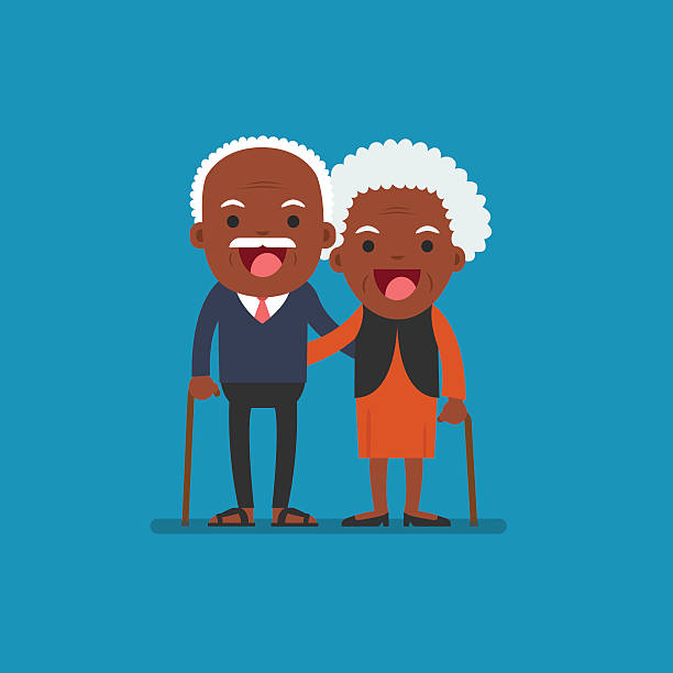 Black Grandparents Clipart.