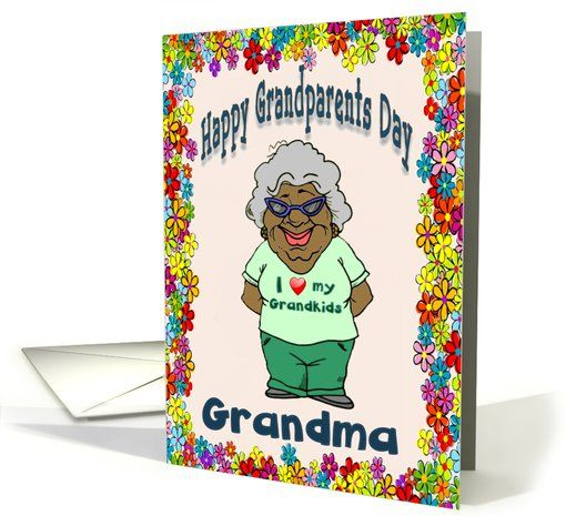 Happy Grandparents Day (Grandma) African American card.