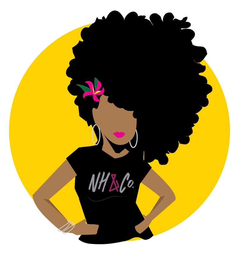 Natural Hair Logos.