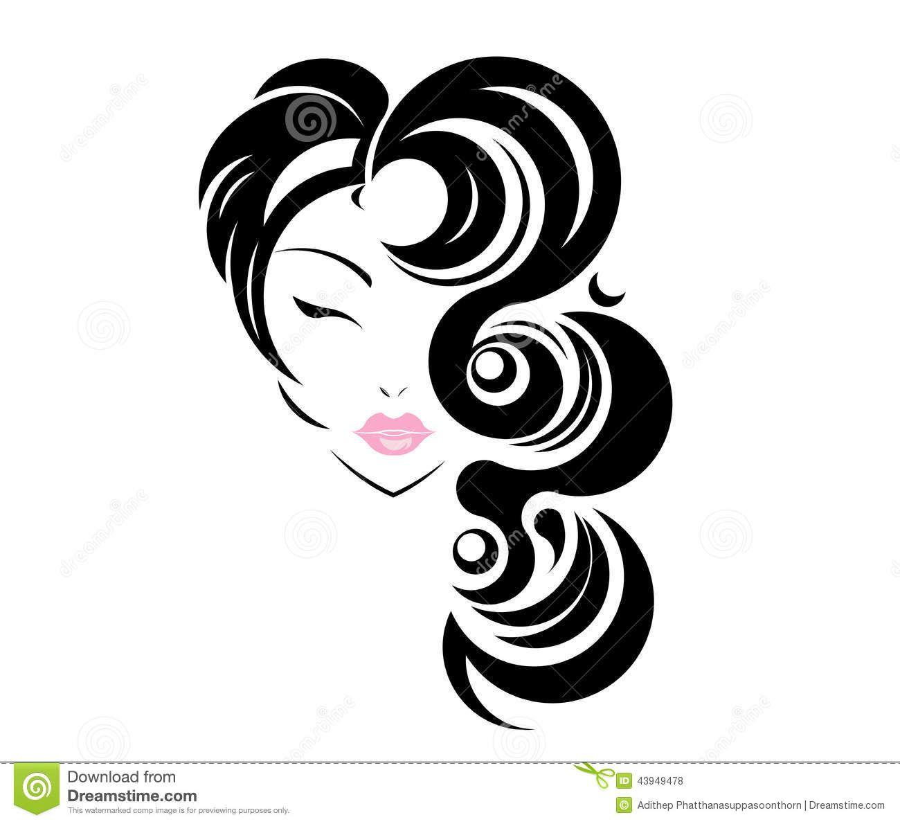 black hair salon logos.