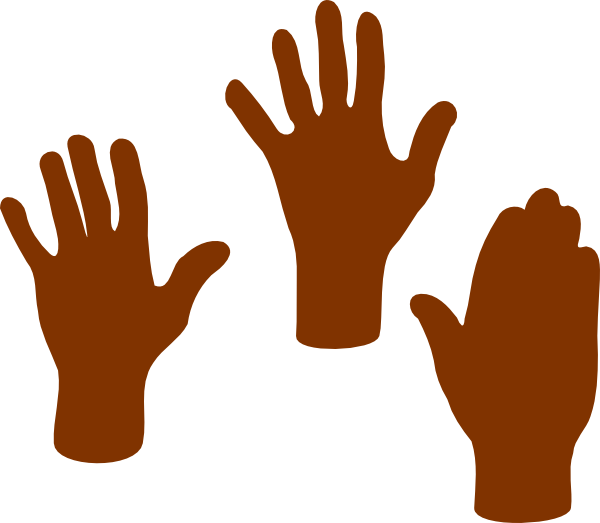 Hand clipart african american, Hand african american.