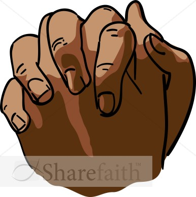 African American Clasped Hands.