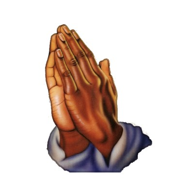 African American Praying Hands Clipart.