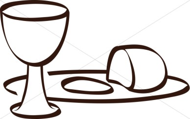 Communion Clipart Black And White.