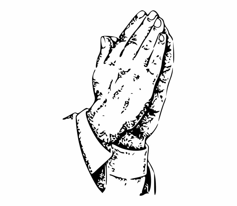 Praying Hands Man Church Christian Prayer God.