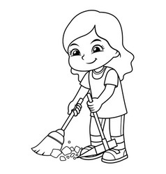 Broom Girl Vector Images (over 2,300).