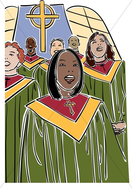 African american church choir clipart.
