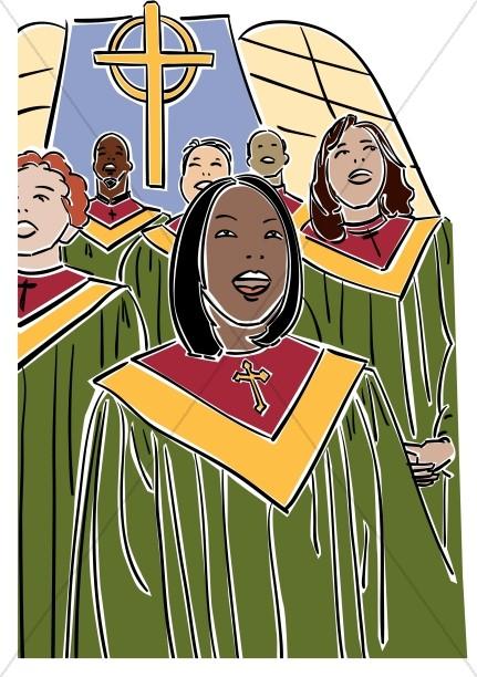 African american church choir clipart.