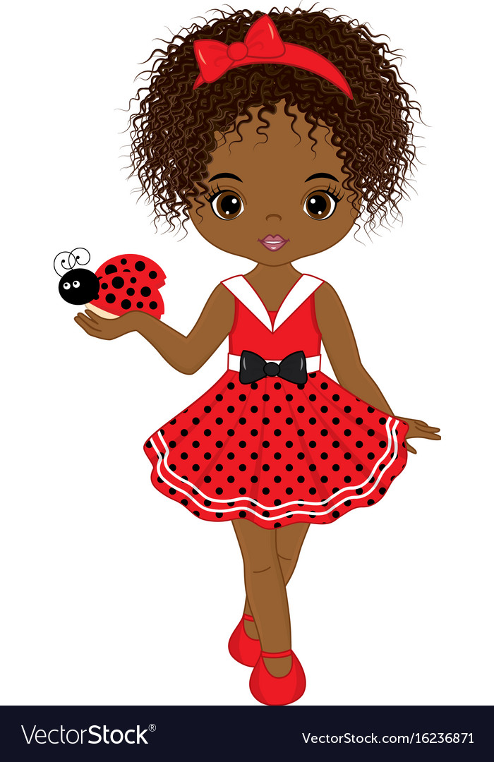 Cute little african american girl.