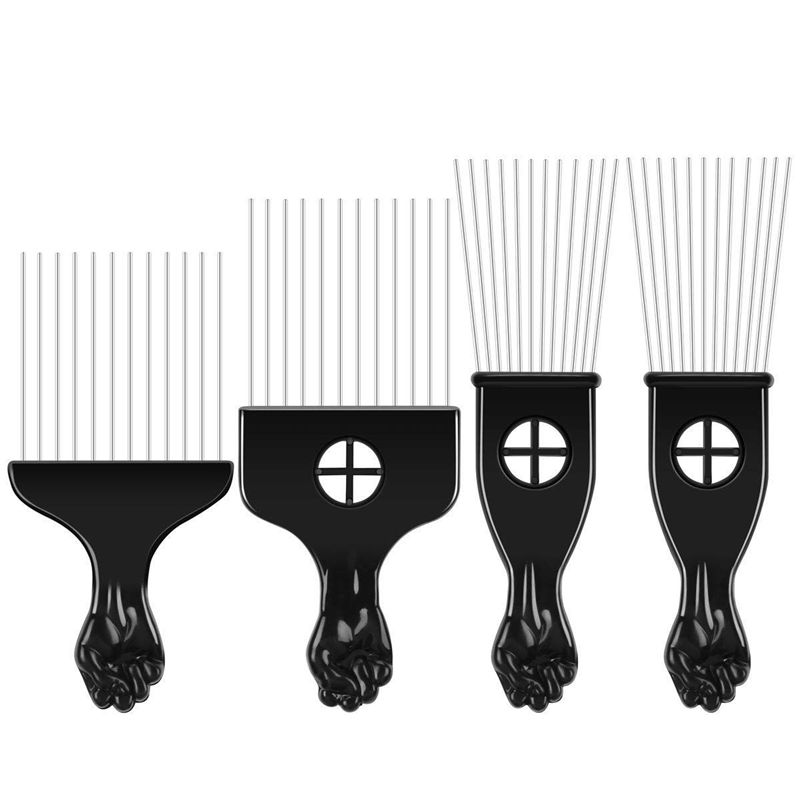 Details about 4 pcs Pick Comb African American Hair Brush Metal Hair  Coloring Hairdressin G6G7.
