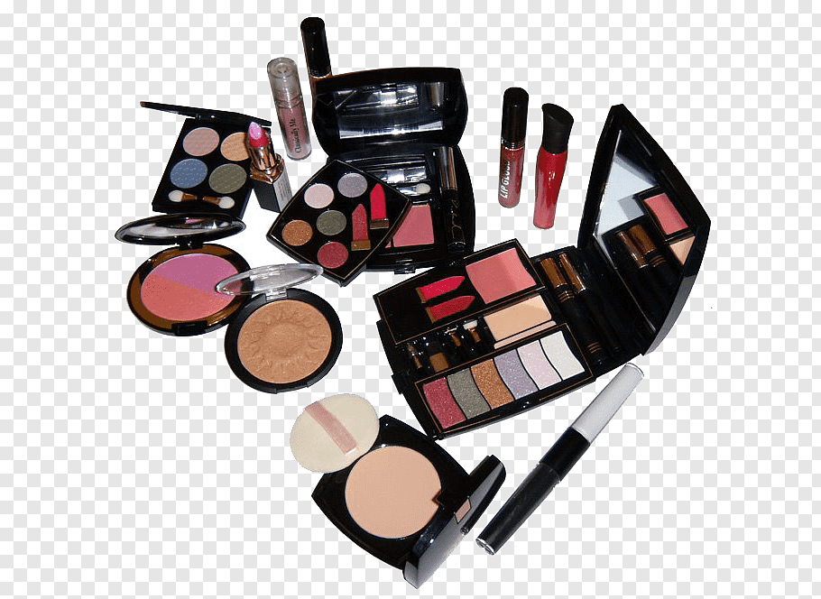Women\'s black makeup palettes and foundations, Cosmetics.