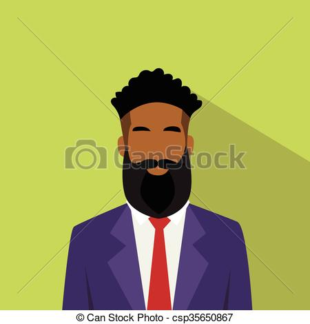 Business Man Profile Icon African American Ethnic Male Avatar.