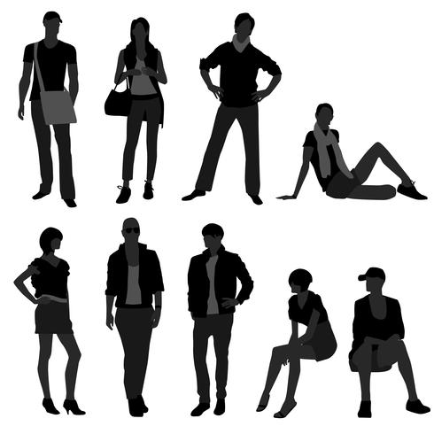 Man/Male, Woman/Female Fashion Shopping Model..