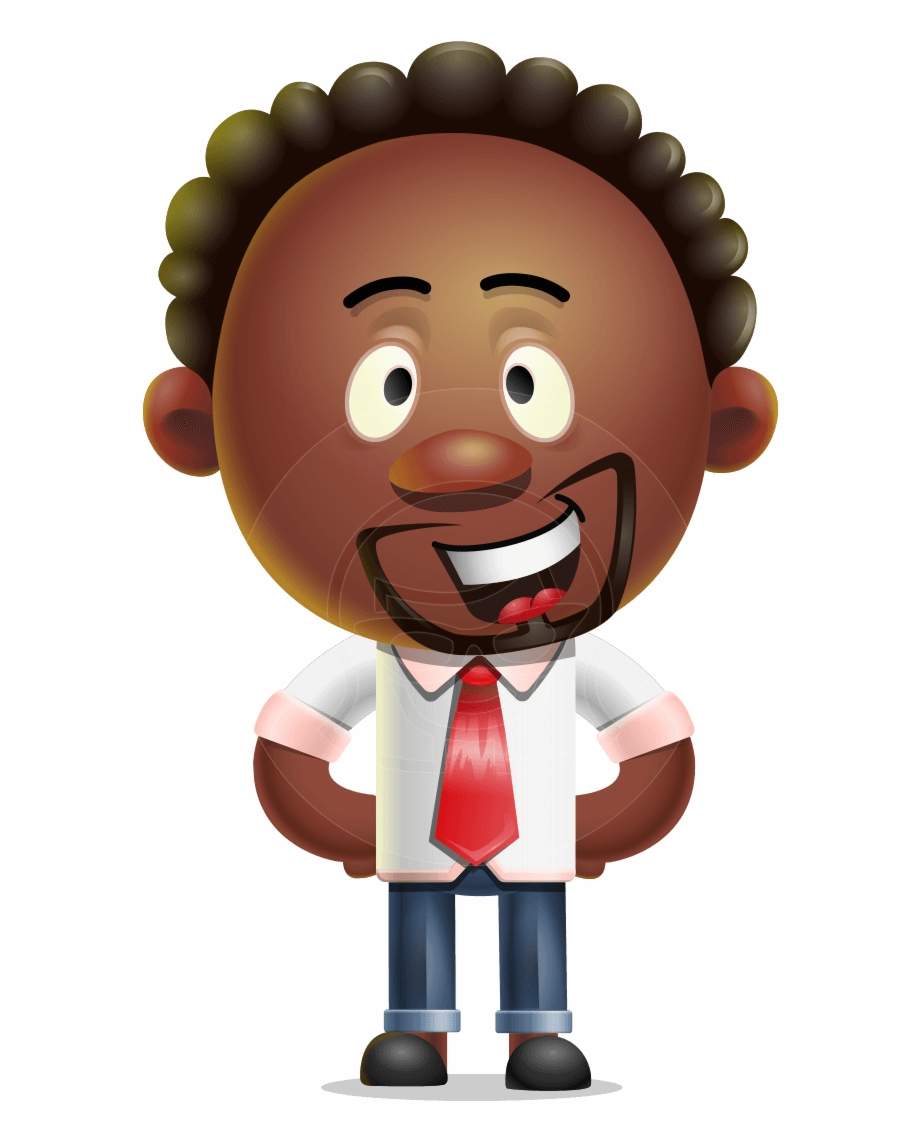 Cute African American Man Cartoon 3D Vector Character.