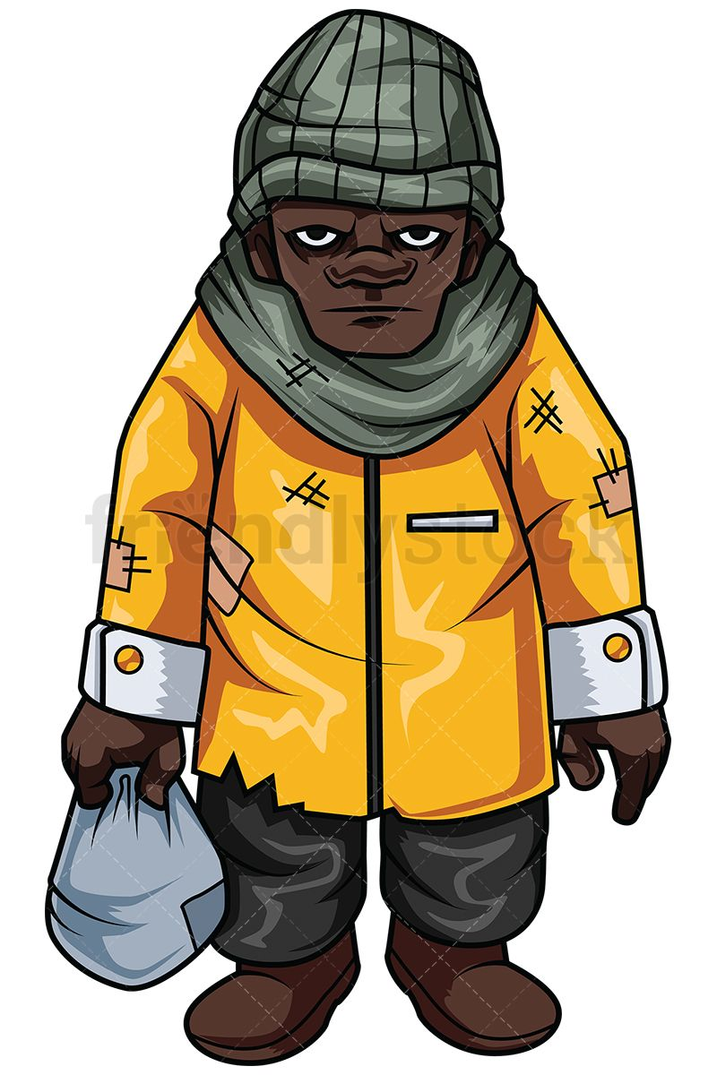 Homeless African.