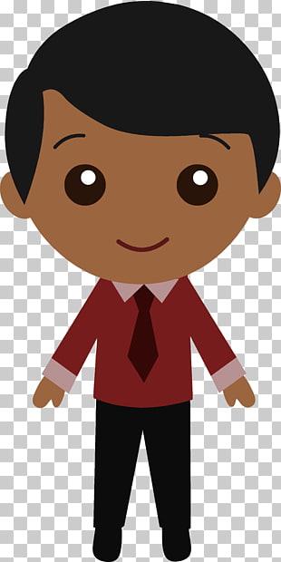 Black Cartoon Man , Black Hair s PNG clipart.