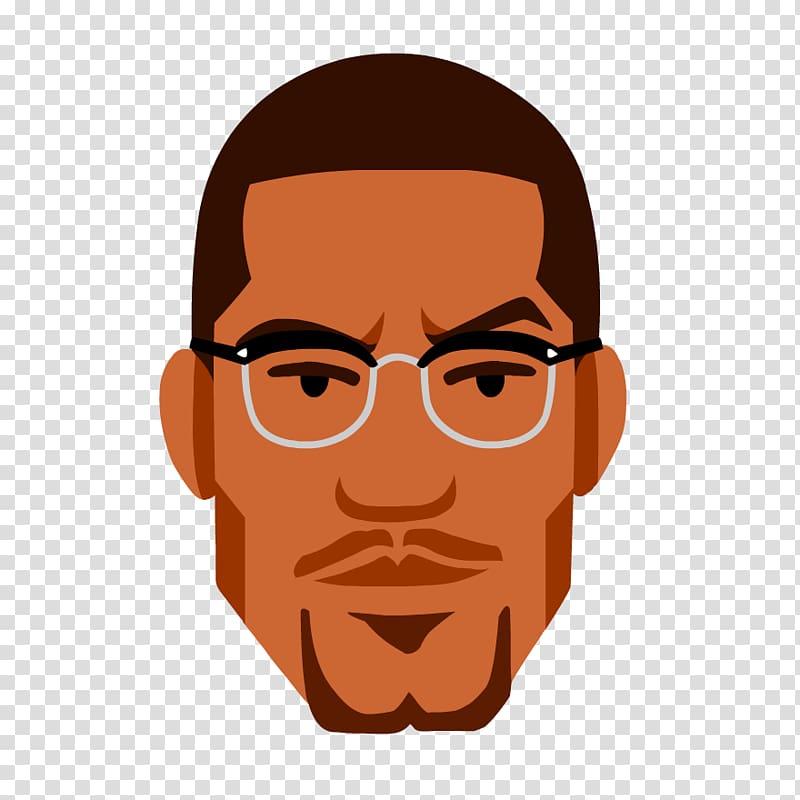 Malcolm X Cartoon African.
