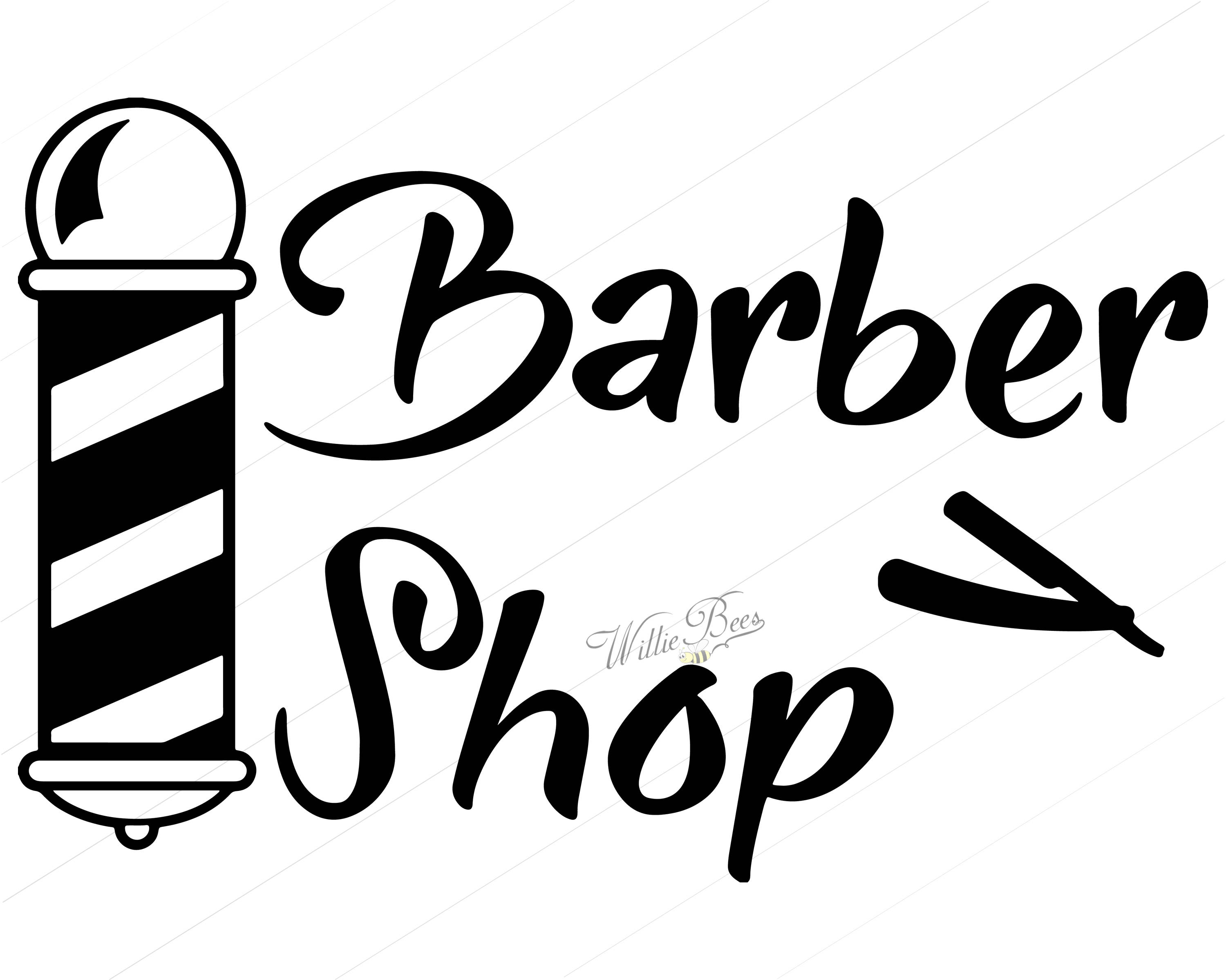 1196 Barber free clipart.