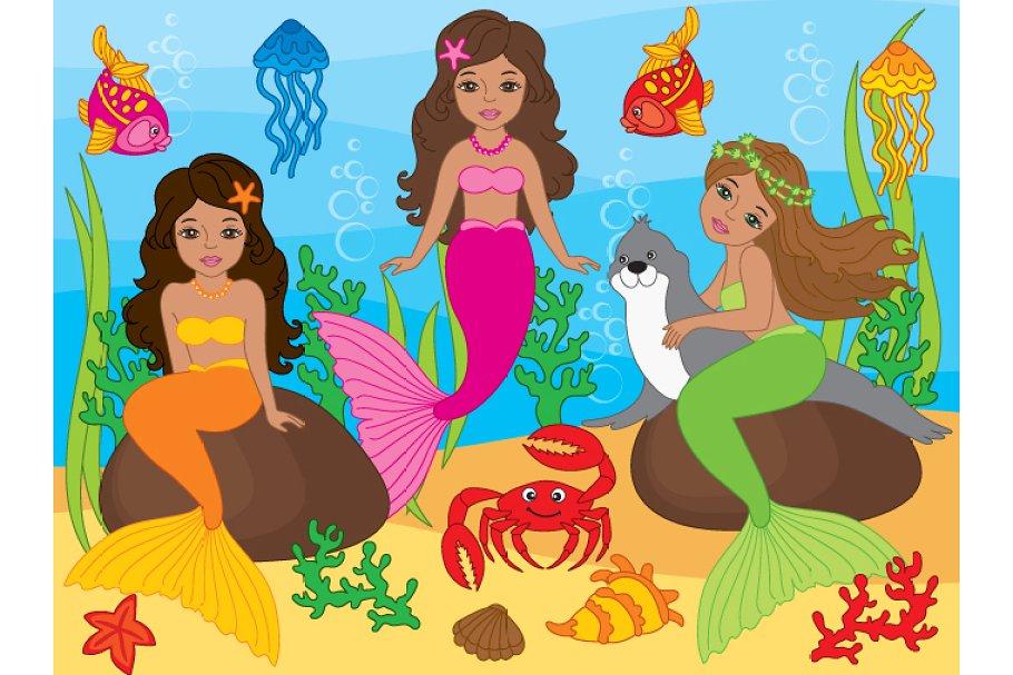 African American Mermaids.
