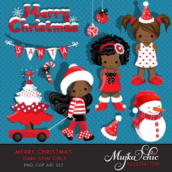 Christmas Clipart Noel Graphics, cute Christmas characters.