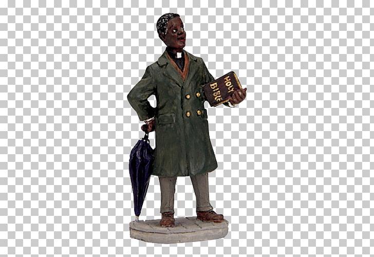 Christmas village Preacher Minister Figurine, african.