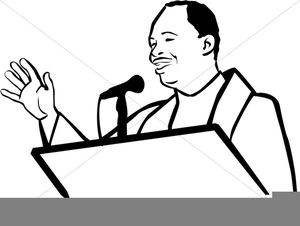 African American Minister Clipart.