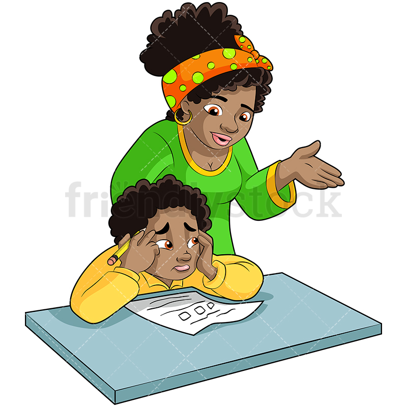 African American Boy And Mom Clipart & Free Clip Art Images #28661.