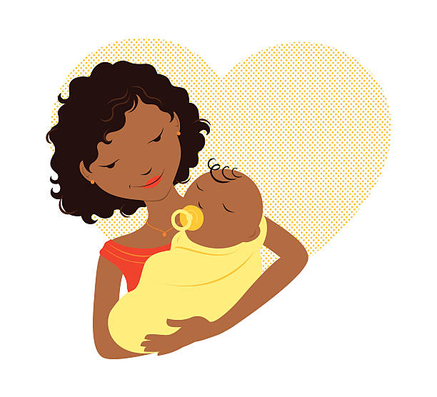 Black Mother Clipart.