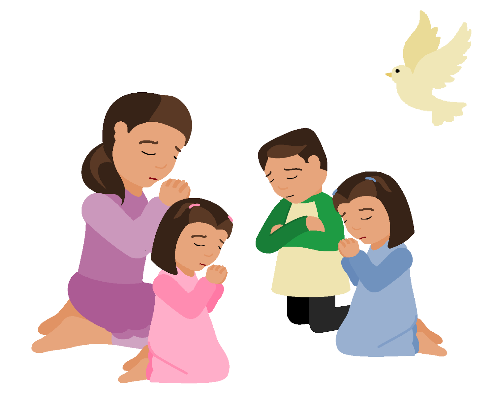 Mother Praying Clipart.