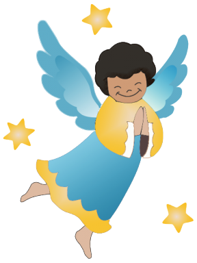 African American Mother Praying Clipart.