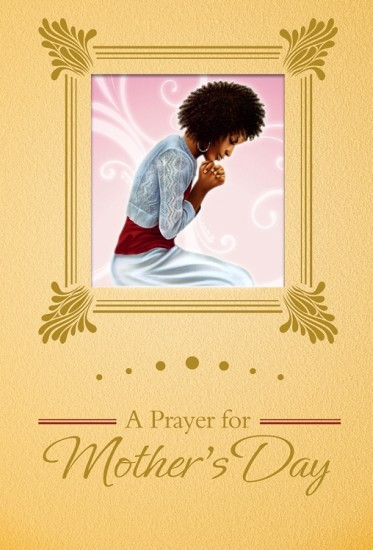 Africian America Mother Praying Clipart.