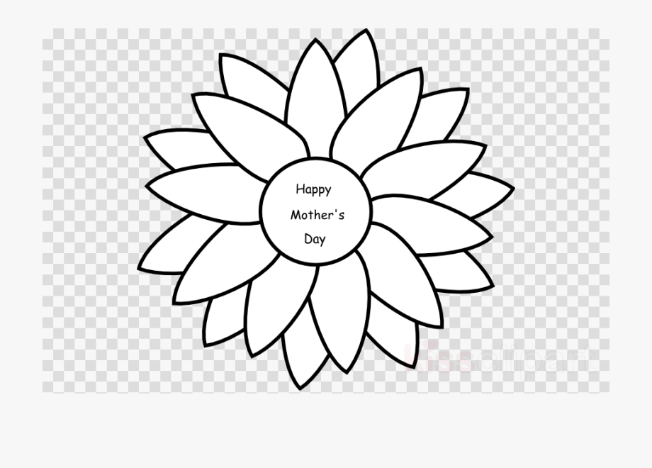 Happy Mothers Day Clipart Coloring.
