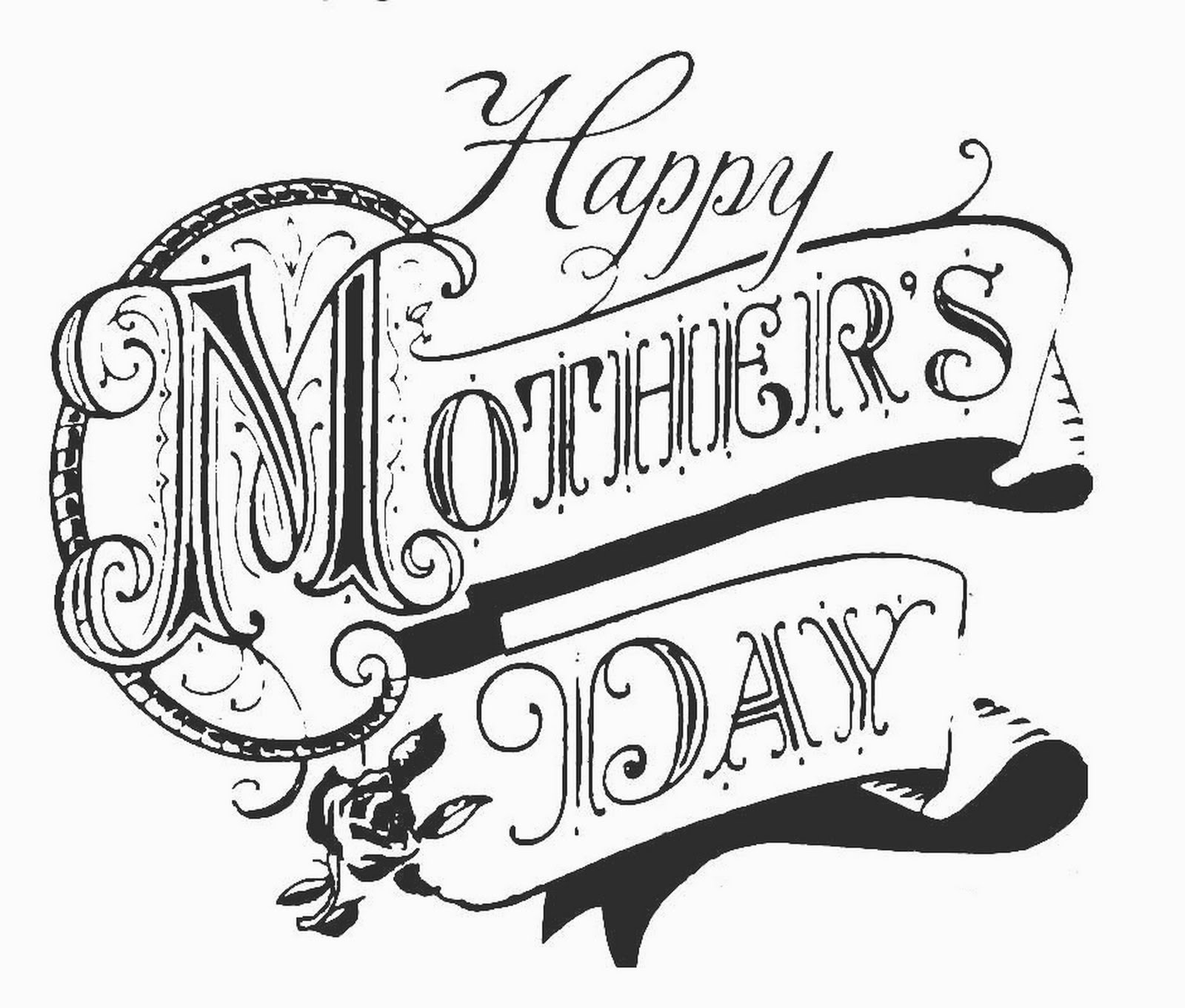 Black mothers day clip art.