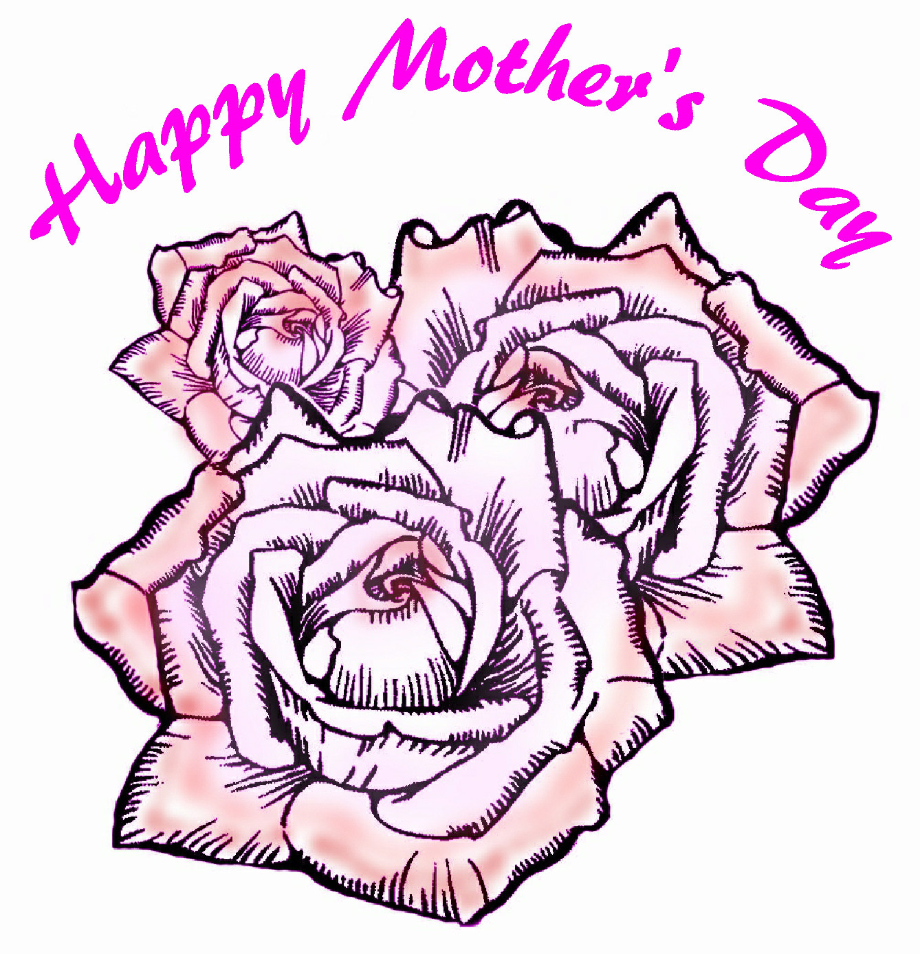 Mother S Day Clipart Black And White.