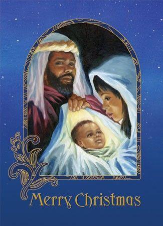 Vintage Christmas Card Nativity 746.
