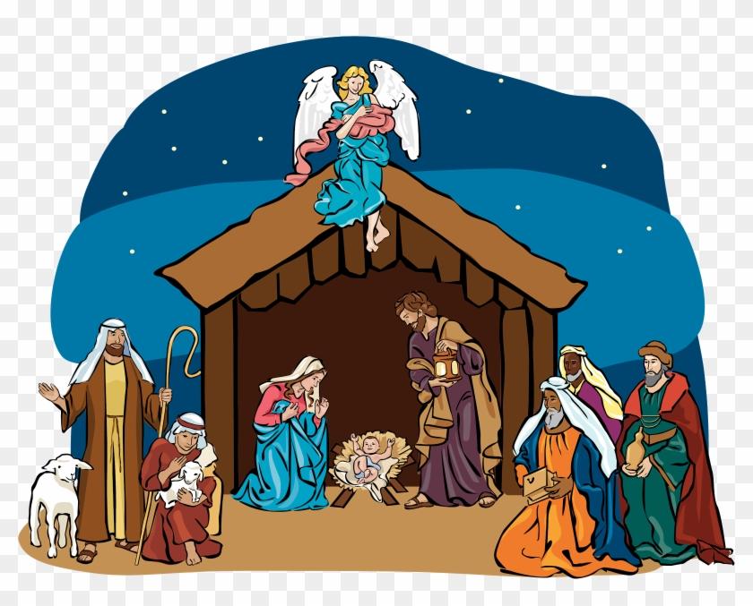African American Nativity Scene.