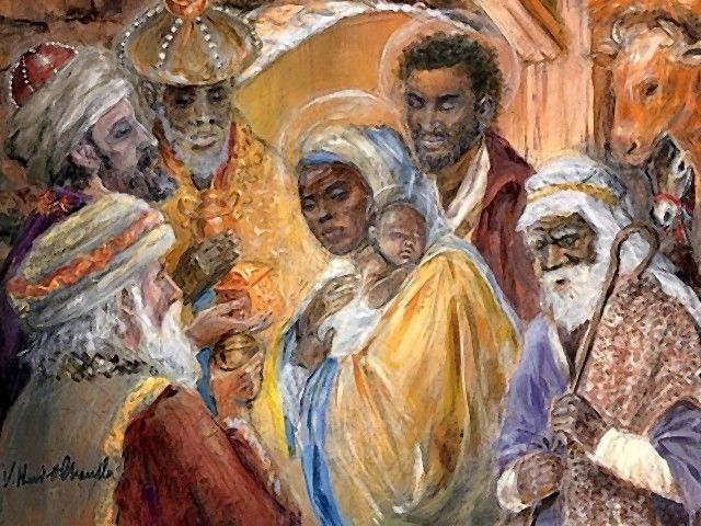 African American Christmas Nativity Images.