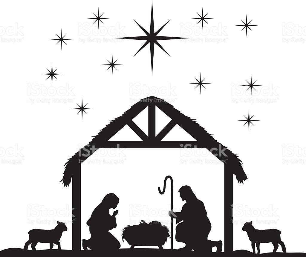 Manger scene clipart Lovely Black Nativity Scene Clipart.