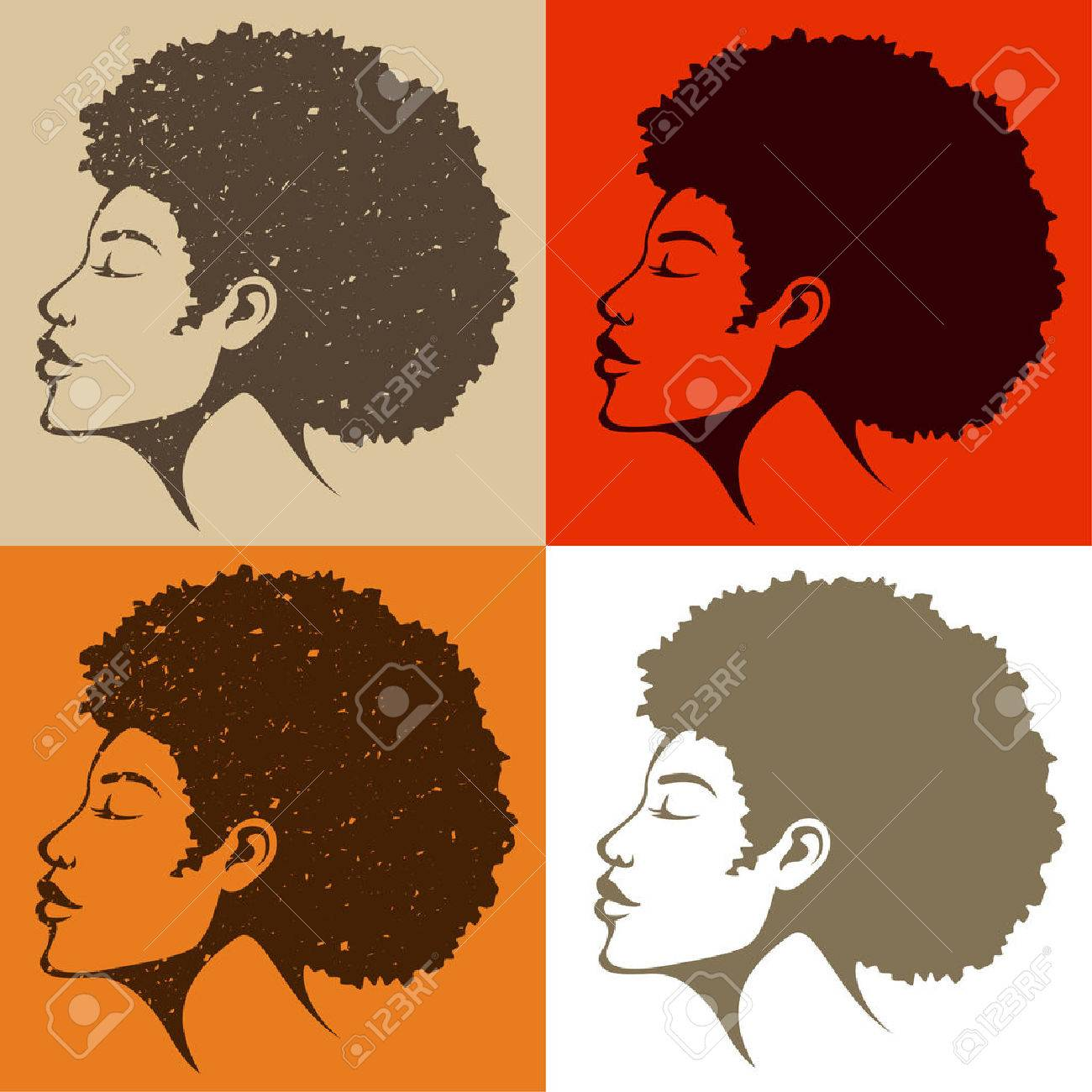 beautiful African American woman with natural hair.