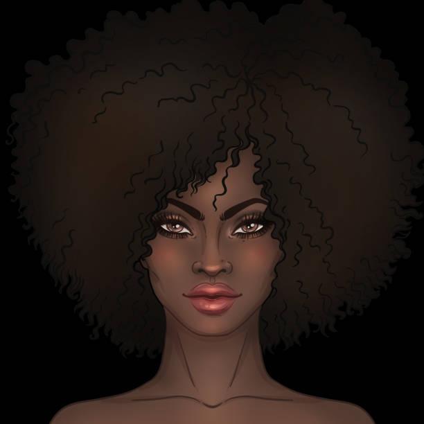 Best Natural Hair Black Woman Illustrations, Royalty.