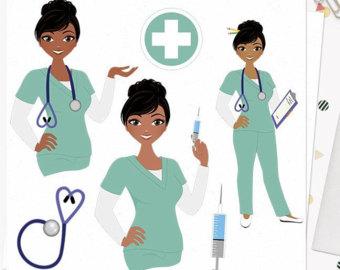 African American Nurse Clipart.