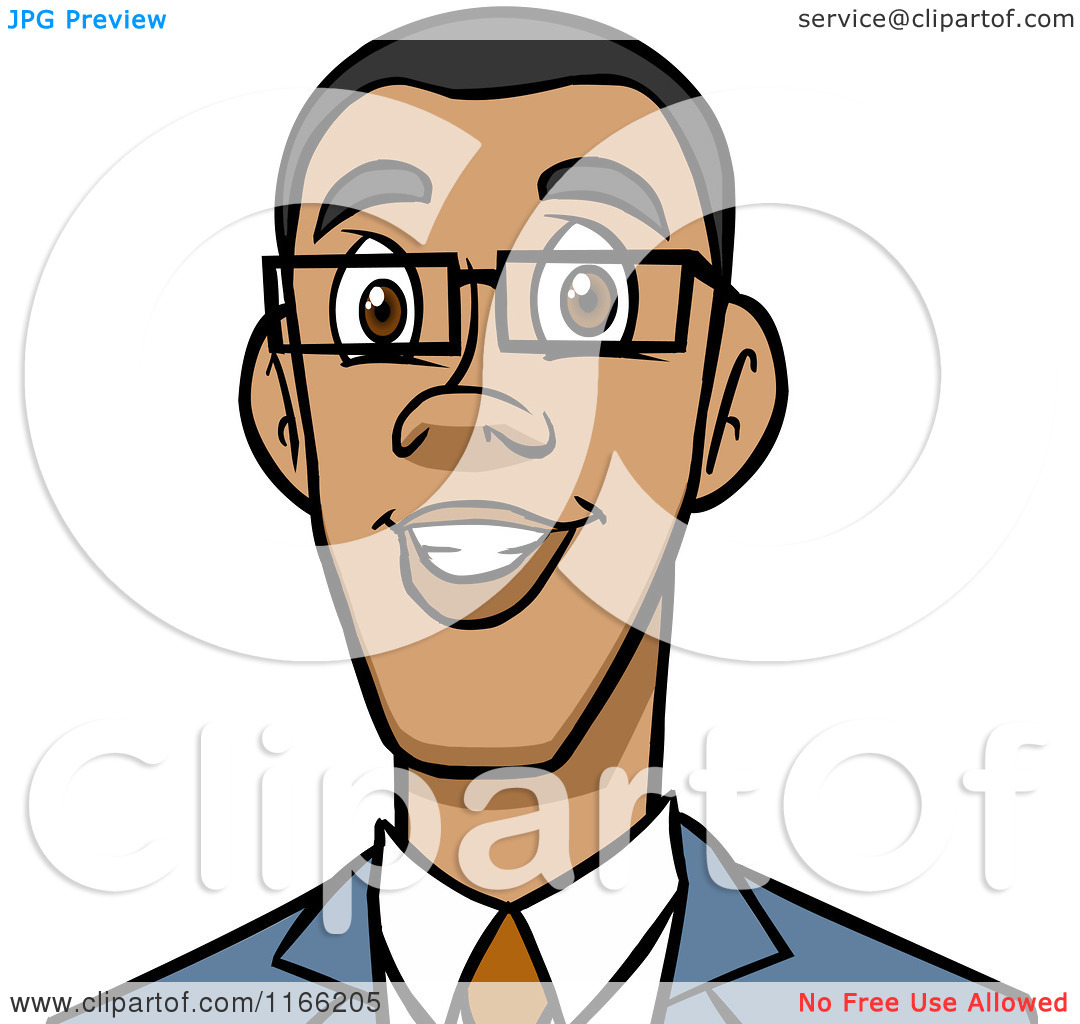 african american old man face clipart #8